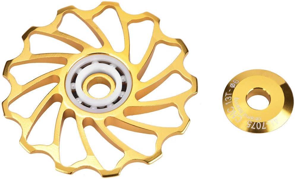 1# 11T Fahrrad Schaltwerk Riemenscheibe Fahrradf/ührungsrad 11 T Keramiklager Aluminiumlegierung Bike Schaltwerk Riemenscheibe f/ür Mountainbike Rennrad 2 st/ücke Zyyini Umwerfer Riemenscheibe
