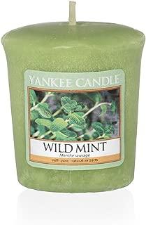 Yankee Candle Wild Mint Votive Candle, Wax, Green, 4.7 x 4.5 x 5 cm