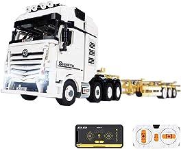 Techniek vrachtwagen met aanhanger, 4478 klembouwstenen, 2,4 G, afstandsbediening, 4-kanaals vrachtwagen met motoren, mode...