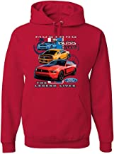 Ford Mustang The Legend Lives Hoodie Licensed Ford Design Sweatshirt
