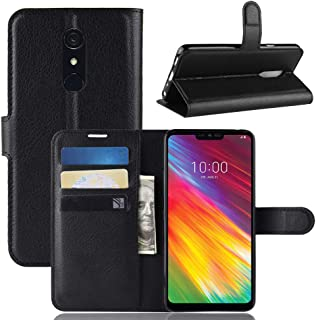 LG G7 Fit Case Cover,Premium PU Leather Flip Folio Wallet Case with Card Slot,Stand Holder and Magnetic Closure [TPU Shock...