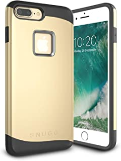 iPhone 7 Plus Case, Snugg Apple iPhone 7 Plus Dual Layer Slim Cover [Infinity Series] Protective Bumper Shell Skin – Gold