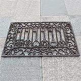 Garden Patio Heavy Duty Cast Iron Doormat, Retro...