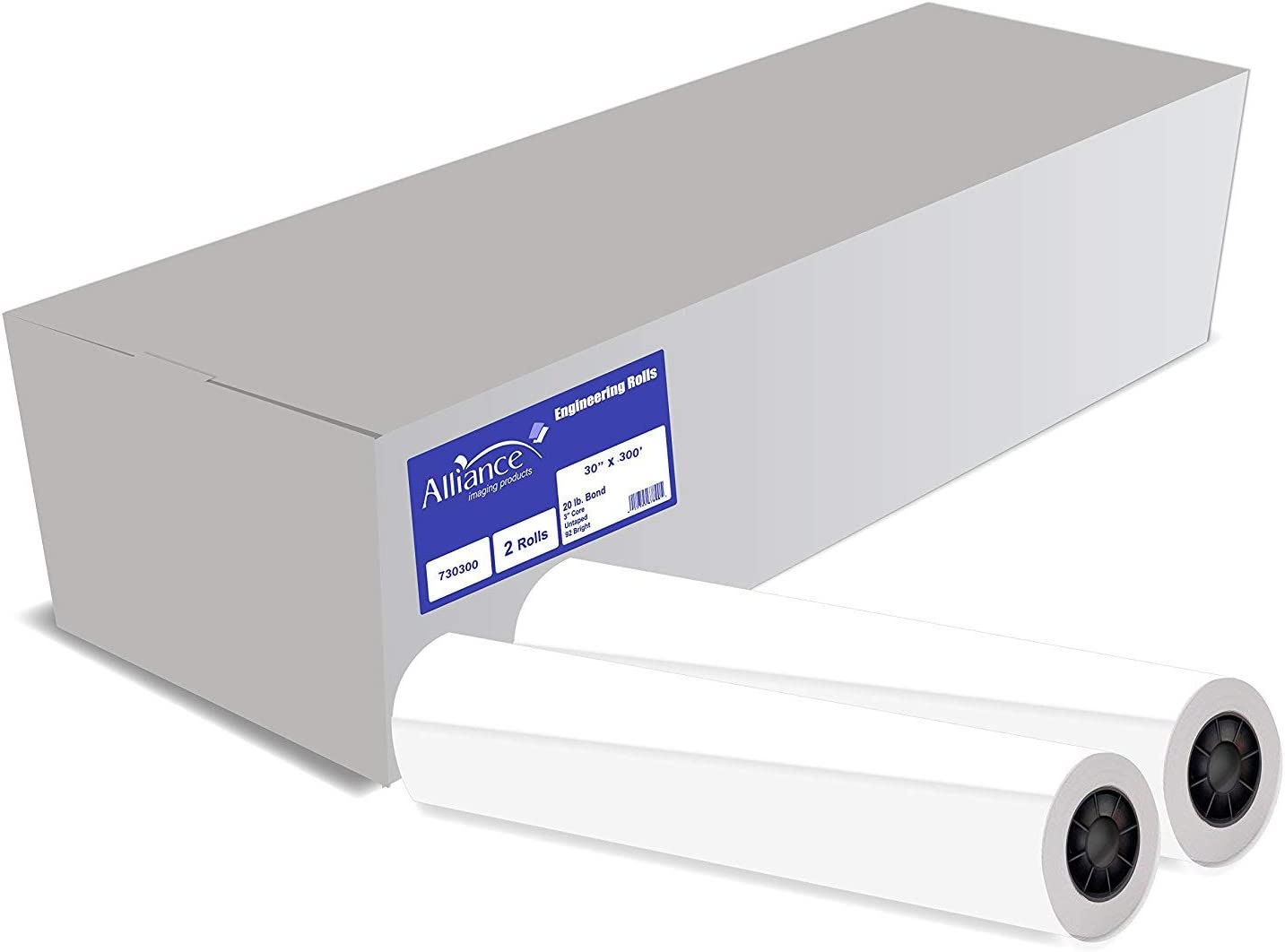 """Over item handling ☆ Alliance Wide Format Paper 30"""" x Bri Free shipping Rolls 92 300' CAD"""