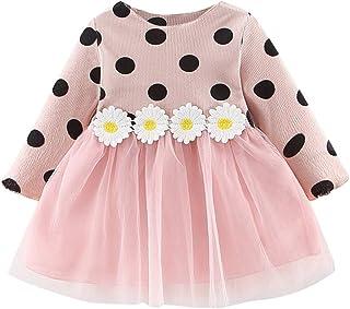 Niña Recien Nacido Verano 0 6 a 24 Meses - 1PC Girasol Princesa Punto Tul Vestido Conjunto de Ropa