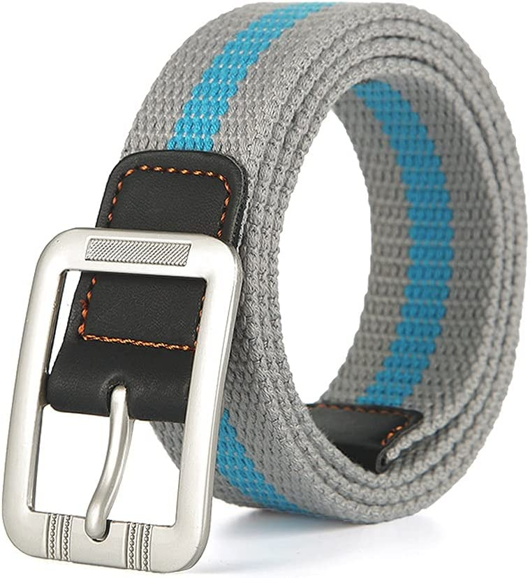 HLDETH Boys and Girls Narrow Version Wide Popular Simple Leisure with Fashionable and Comfortable Young Students Canvas Belt (Color : E)
