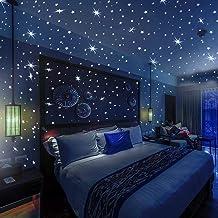 Adesivos de Parede 3D Glow in the Dark - 332 Estrelas e Pontos