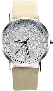 chinatera Quartz Watches for Women, Minimal Analog Leather Round Dial Wristwatch