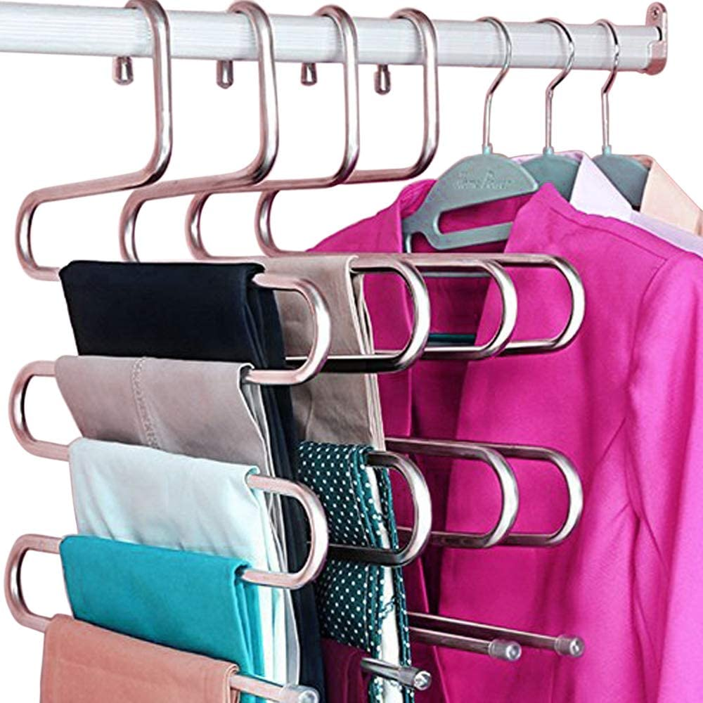 HangPro Pants Hanger Closet Mesa Mall Year-end annual account Jeans Organizer Skirts for