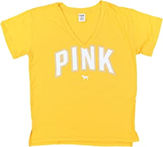 Victoria/'s Secret Pink T-Shirt Short Sleeve Tee Casual Top Vs Graphic Logo New