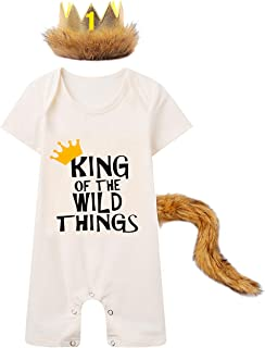 Royal King Lion Kids Boys Girls Printted Baby Crawling Suit Lone-Sleeved Romper Bodysuit