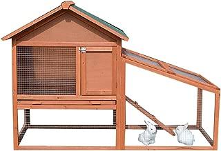 Wenzhihua Casa de Mascotas Grande al Aire Libre Conejo Hutch pequeño Animal Jaula Playpen Guinea Pig Casa con Escalera para Animales pequeños