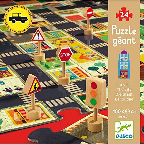 Djeco - Puzzle The City mit Verkehrszeichen 29 teilig