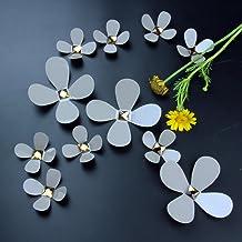 Walplus beige 3D kristal bloemen Art Decals Home Restaurant afneembare zelfklevende muurtattoo, beige, 10 x 18 x 3,5 cm, 1...