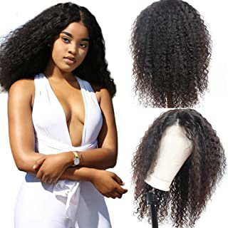 Kinky Curly 360 Lace Frontal Human Hair Wig Pre Plucked with Baby Hair Remy Peruvian Wig For Women 180 Density,Natural Color Density 180,24inches