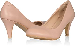 Yeviavy Mid Heels Pumps for Women Round Toe Classic...