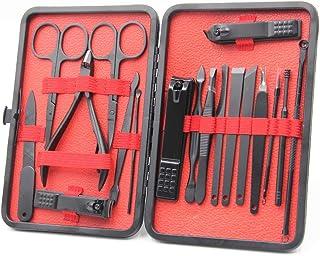 Juego de manicura GMAXT, kit de aseo 18 en 1, juego de cortauñas profesional y kit de pedicura, kit de acero inoxidable co...
