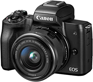 Canon EOS M50 + EF-M 15-45mm f/3.5-6.3 IS STM Kit Kit fotocamere SLR 24,1 MP CMOS 6000 x 4000 Pixel Nero