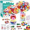 HULASO Crafts for Girls Ages 8-12 Make Your Own Flower Bouquet with Buttons and Felt Flowers, Vase Art and Craft for Children - DIY Activity for Boys & Girls Age 6 7 8 9 10 11 12 Year Old from HULASO