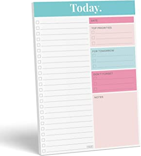 """Sweetzer & Orange Daily Planner 2020-2021, Undated Planner to Do List Notepad. 7x10"""" Day Planner Note Pad. Checklist Produ..."""