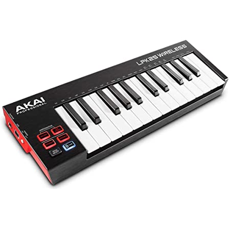Akai Professional LPK25 Wireless | Bluetooth-Enabled 25-Key Velocity Sensitive Mini MIDI Keyboard for Production and Performance, Suitable for iOS, Mac and PC Applications