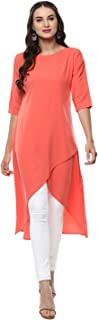 Janasya Indian Tunic Tops Crepe Kurti for Women