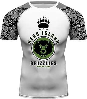 Men Summer Short Sleeve Tshirt Fitness Running Surfing Workout Tee Top Rash Guards