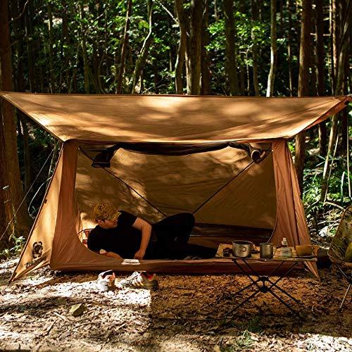 Tiendas de campaña Carpa De 3 Estaciones Carpa Ultraligera De Estilo Panadero para Artesanos del Bosque Y Supervivientes Camping Senderismo