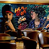 MGQSS 3D Wandbild selbstklebende Tapete Hip Hop Graffiti