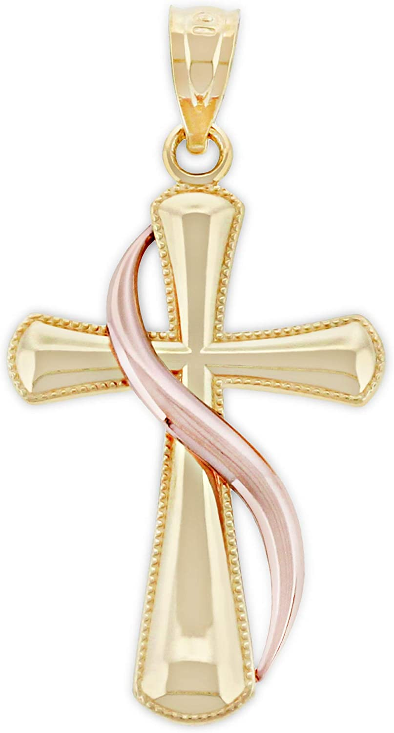 Charm America - Gold Cross At Easy-to-use the price of surprise Karat 10 with Solid Flame