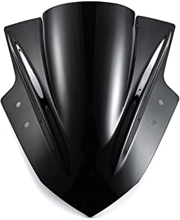 Amazicha Black Windshield Windscreen Double Bubble for Kawasaki Ninja 300 EX300 2013 2014 2015 2016 2017