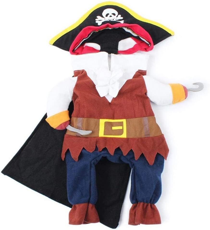 Atyhao Dog Clothes S Halloween Pirate Dog Costume Suit Dressing up Party Apparel for Dogs Puppy Cats Halloween Christmas Easter Festival Party Activity