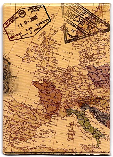 Topunion World Map Perspective Passport Holder Click to Open Expanded View World Map 3D Passport Cover