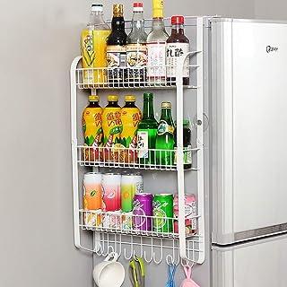 Rangement de cuisine, étagère de rangement de cuisine, réfrigérateur latéral de rangement pour la cuisine - Rangement de r...