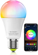HaoDeng WiFi LED Light, Smart Bulb -Timer& Sunrise& Sunset- Dimmable, Multicolor, Warm White (Color Changing Disco Ball La...