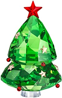 Swarovski Authentic Merry and Festive Joyful Figurines Green Christmas Tree