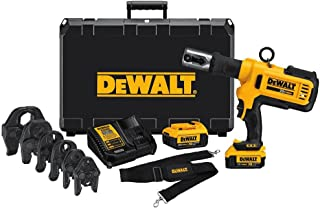 DEWALT DCE200M2K 20V Plumbing Pipe Press Tool Kit with Crimping Heads