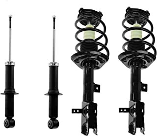 All (4) New Front Ready Strut Assembly Set and Rear Shock Absorbers - for 07-12 Caliber (Excludes SRT) - [07-17 Jeep Compass/Patriot FWD and [4WD without off-road package]