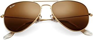 Classic Aviator Sunglasses for Men Women 100% Real Glass...