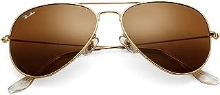 Classic Aviator Sunglasses for Men Women 100% Real Glass Lens
