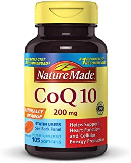 Nature Made CoQ10 (Coenzyme Q 10) 200 mg. Softgels 105 Count