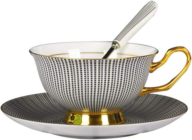 Tasse à thé élégante Tasse à café, céramique européenne tasse à café tasse et soucoupe tasse de thé en céramique simple fleur thé tasse de thé rouge