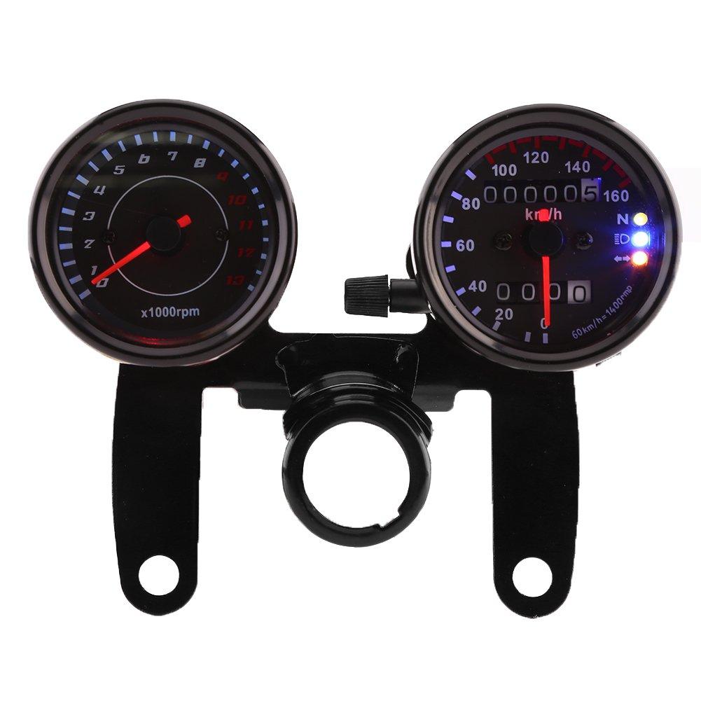 Tachometer Very popular Qiilu 12V Free shipping Odometer Speedometer Km h Gauge
