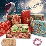 Telgoner Geschenkpapier Weihnachten, 10 Stück recyceltes Weihnachtspapier...