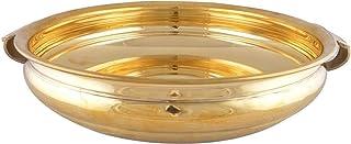 PARIJAT HANDICRAFT Traditional Bowl/Urli for Diwali/Festival Decor (Gold, 12-inch Diameter)