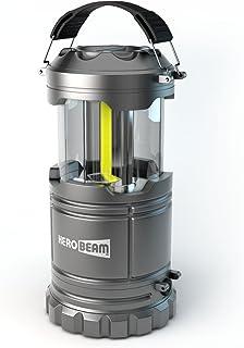 2 x HeroBeam LED Lantern V2.0 with Flashlight - Latest COB Technology emits 350 LUMENS! - Collapsible Camp Lamp - Great Li...