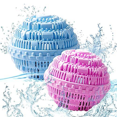 WELLXUNK® Waschkugel, Waschbälle für Wäsche, Waschkugel für Waschmaschine, Eco Waschkugel mit vier Mineralienarten Waschmittel, Nachhaltig, Umweltschonend, Antibakteriell Öko Wäscheball