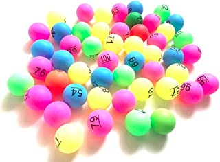 Re mail order (Re通販) ビンゴ ボール ナンバー 入り 抽選 カラフル ピンポン玉 ボール 番号 No 1-50 51-100 (51-100)