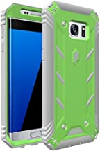 Galaxy S7 Edge Case, POETIC Revolution Series [Premium Rugged][Shock Absorption & Dust Resistant] Protective Case (Without Built-in Screen Protector) for Samsung Galaxy S7 Edge (2016) Green/Gray