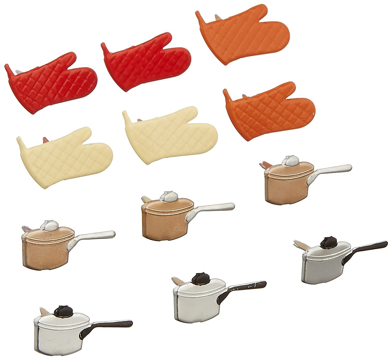 EYELET OUTLET Notions - in Network Shape Brads-Cooking, 12-Pack
